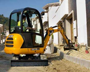 JCB 8018 CTS Excavator Digger Hire in Ludlow