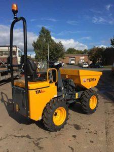 Terex 1 tonne site dumper truck hire Ludlow